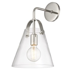 Industrial Sconce Polished Nickel Mitzi Karin by Hudson Valley