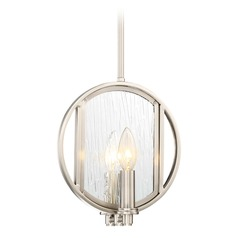 Minka Lavery Via Capri Brushed Nickel Mini-Pendant Light
