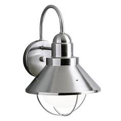 Kichler Outdoor Wall Light in Brushed Nickel Finish