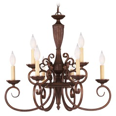 Savoy House Walnut Patina Chandelier