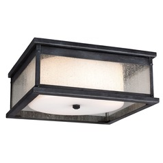 Feiss Lighting Pediment Dark Weathered Zinc Close To Ceiling Light