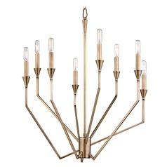 Hudson Valley Lighting Archie Aged Brass Chandelier