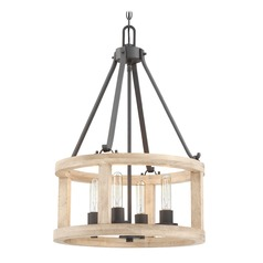 Craftmade Lighting Astoria Cast Iron Pendant Light with Drum Shade
