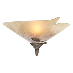 Capri Black Walnut Sconce by Vaxcel Lighting