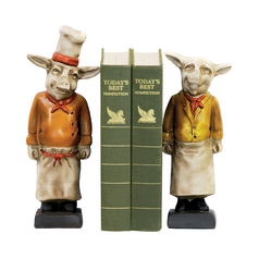 Chef Pig Decorative Bookends