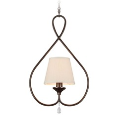 Sea Gull Lighting West Town Burnt Sienna Mini-Pendant Light with Empire Shade