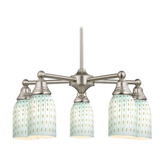 Chandelier in Satin Nickel Finish