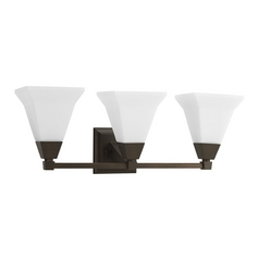 Arts and Crafts / Craftsman Bathroom Light Bronze Glenmont by Progress Lighting