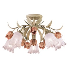 Crystorama Lighting Southport Sage/rose Semi-Flushmount Light