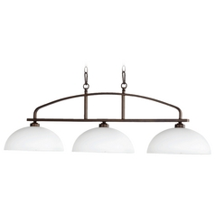 Quorum Lighting Reyes Oiled Bronze Island Light with Bowl / Dome Shade