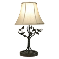 Stylecraft Transitional Aged Bronze Table Lamp