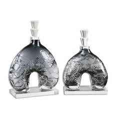 Uttermost Cozmo Glass Sculptures, Set of 2