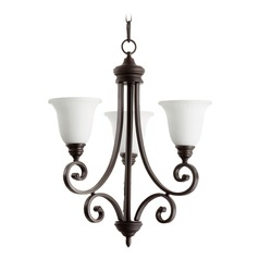 Quorum Lighting Bryant Oiled Bronze Mini-Chandelier
