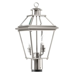Progress Lighting Burlington Brushed Nickel Post Light