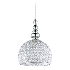 Eglo Bonares 2 Chrome Mini-Pendant Light with Bowl / Dome Shade