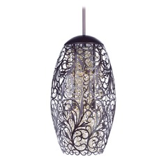 Maxim Lighting Arabesque Oil Rubbed Bronze Pendant Light with Oblong Shade