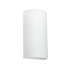 Sconce Wall Light White Glass by Besa Lighting