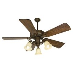 Craftmade Lighting Cxl Aged Bronze Textured Ceiling Fan with Light