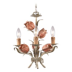 Crystorama Lighting Southport Sage/rose Mini-Chandelier