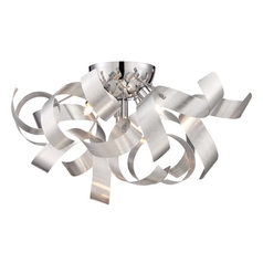 Mid-Century Modern Flushmount Cluster Light Millenia Ribbons by Quoizel Lighting