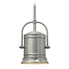 Hinkley Lighting Pullman Brushed Nickel Mini-Pendant Light with Cylindrical Shade
