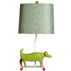 Stylecraft Mini-Dog Green Table Lamp