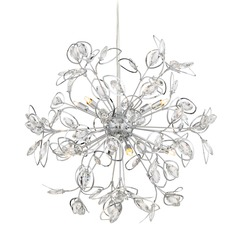 Quoizel Lighting Platinum Collection Crystal Leaf Polished Chrome Pendant Light