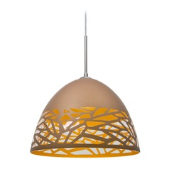 Besa Lighting Kiev Satin Nickel Pendant Light