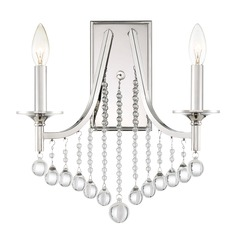 Transitional Polished Nickel 2-Light Sconce