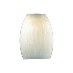 White Cirrus Dome Art Glass Shade - 1-1/8-Inch Fitter Opening