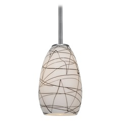 Modern Mini-Pendant Light with White Glass