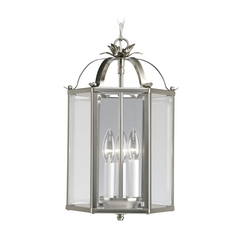 Progress Hexagon Lantern Mini-Pendant Light with Clear Glass