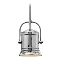 Hinkley Lighting Pullman Chrome Mini-Pendant Light with Cylindrical Shade