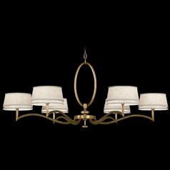 Fine Art Lamps Allegretto Gold Burnished Gold Leaf with Subtle Brown Highlights Chandelier