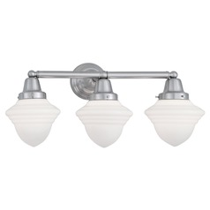 Norwell Lighting Bradford Brush Nickel Bathroom Light