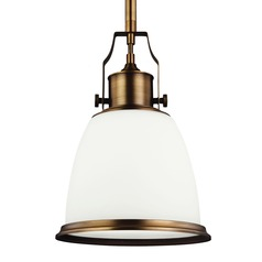 Feiss Hobson Aged Brass Mini-Pendant Light