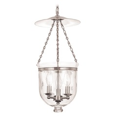 Hudson Valley Lighting Hampton Polished Nickel Pendant Light with Bowl / Dome Shade