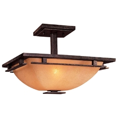 Square Semi-Flush Ceiling Light