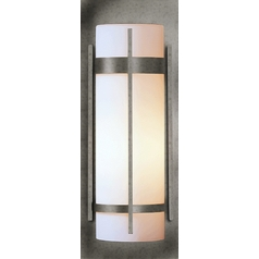 Outdoor Wall Light with Opal Glass - 20-4/5 Inches Tall