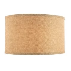 Linen Weave Drum Lamp Shade with Spider Assembly - 17-Inches Wide
