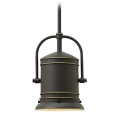 Hinkley Lighting Pullman Oil Rubbed Bronze Mini-Pendant Light with Cylindrical Shade