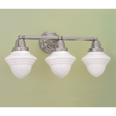Norwell Lighting Bradford Polished Nickel Bathroom Light