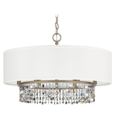 Capital Lighting Harper Brushed Gold Pendant Light with Drum Shade