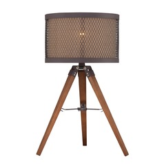 Lite Source Aged Rust Table Lamp with Drum Shade