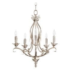 Quorum Lighting Flora Aged Silver Leaf Mini-Chandelier