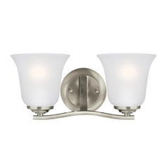 Sea Gull Lighting Emmons Brushed Nickel LED Bathroom Light