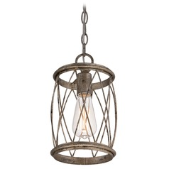Quoizel Dury Century Silver Leaf Mini-Pendant Light