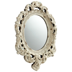 Ornate Illusions Oval 14-Inch Mirror