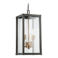 Craftmade Lighting Farnsworth Midnight / Patina Aged Brass Outdoor Hanging Light