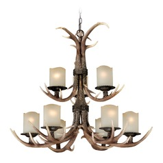 Yoho Faux Antler and Black Walnut Chandelier